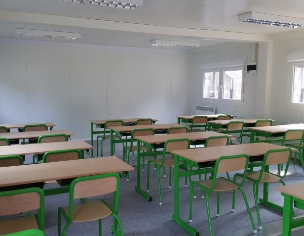 Classes de 54 m² vue intérieur