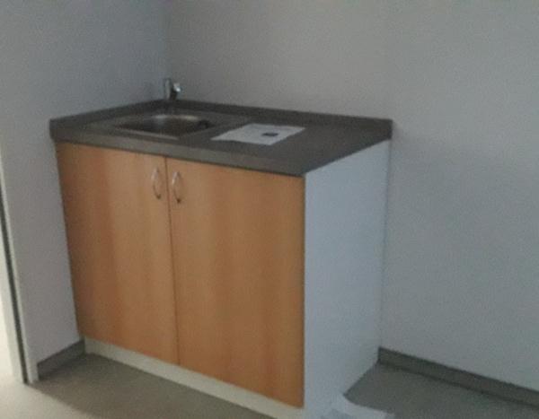 Module réfectoire de 800 x 300 cm avec kitchenette