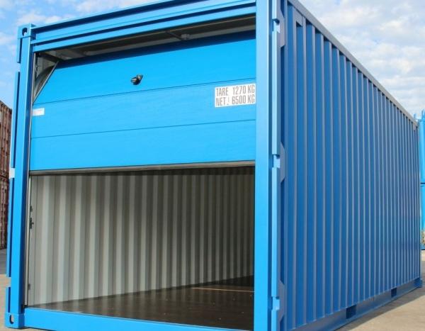 """Opslagcontainer """" met Sectionneldeur """" 20 Voeten"""