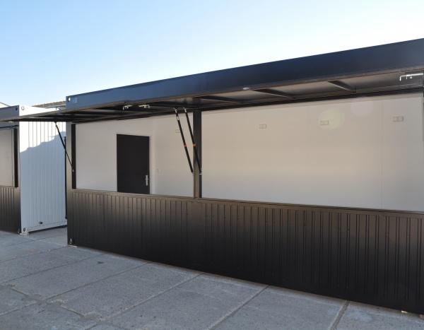 Container Kiosk 20'' 600 cm x 245 cm ( +/- 14,70 m² )