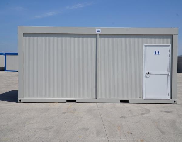 (WC63C) module WC H/D  600cm x 300cm avec couloir