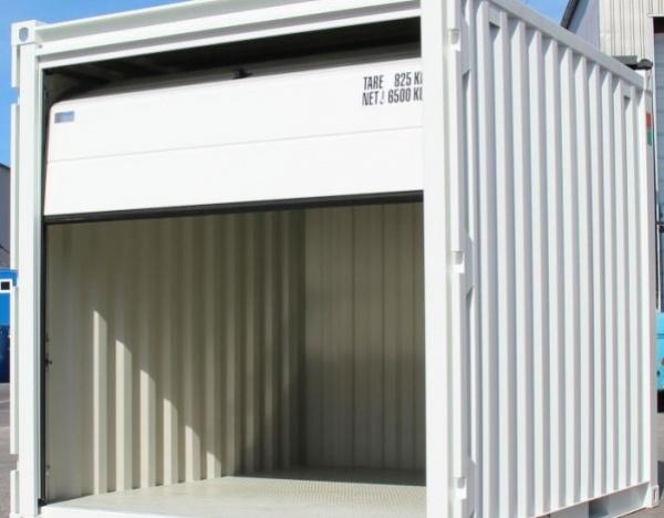 """Oplsag Container """" Sectionnal deur """" 10 Voeten ( +/- 7,29 m² )"""
