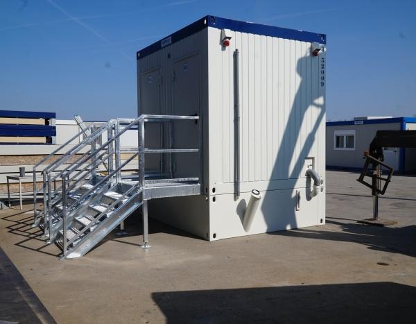 WC met 4 m³ opvangbak ( +/- 7,35 m² )