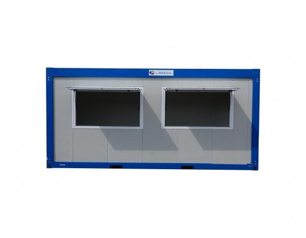 (M62A) 600 cm x 245 cm Module met 2 afdaken  ( +/- 14,70 m² )