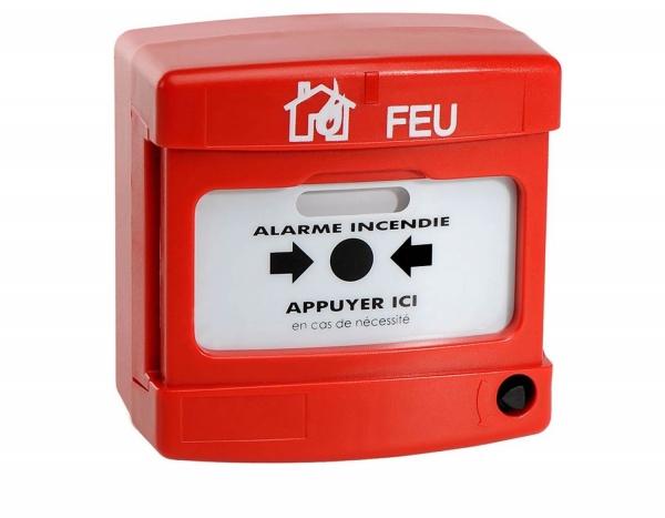 Alarme incendie autonome avec bouton poussoir
