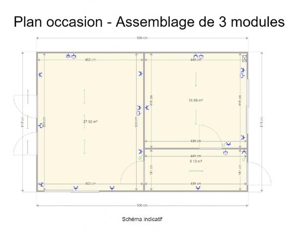 Assemblage de 3 modules